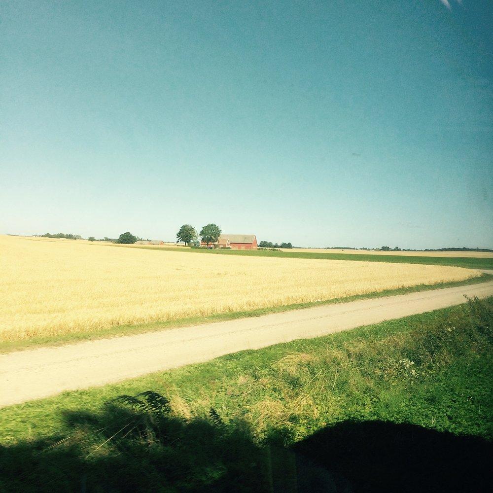 Tågpendlarutsikt. Ibland är tåget ändå ett himla bra ställe trots allt...