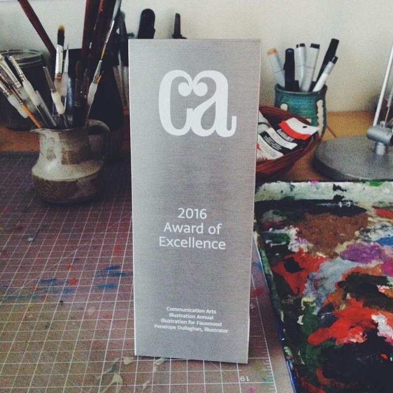 penelope dullaghan , communication arts award for illustration