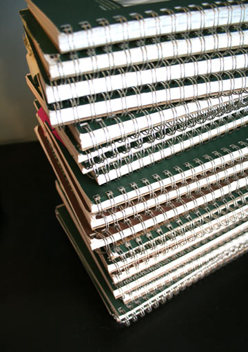 a zillion notebooks