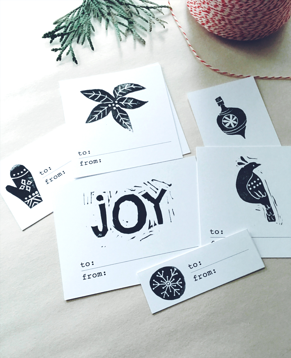 gift tags - free printable from illustrator Penelope Dullaghan
