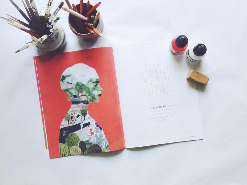 hollins edu magazine penelope dullaghan illustration