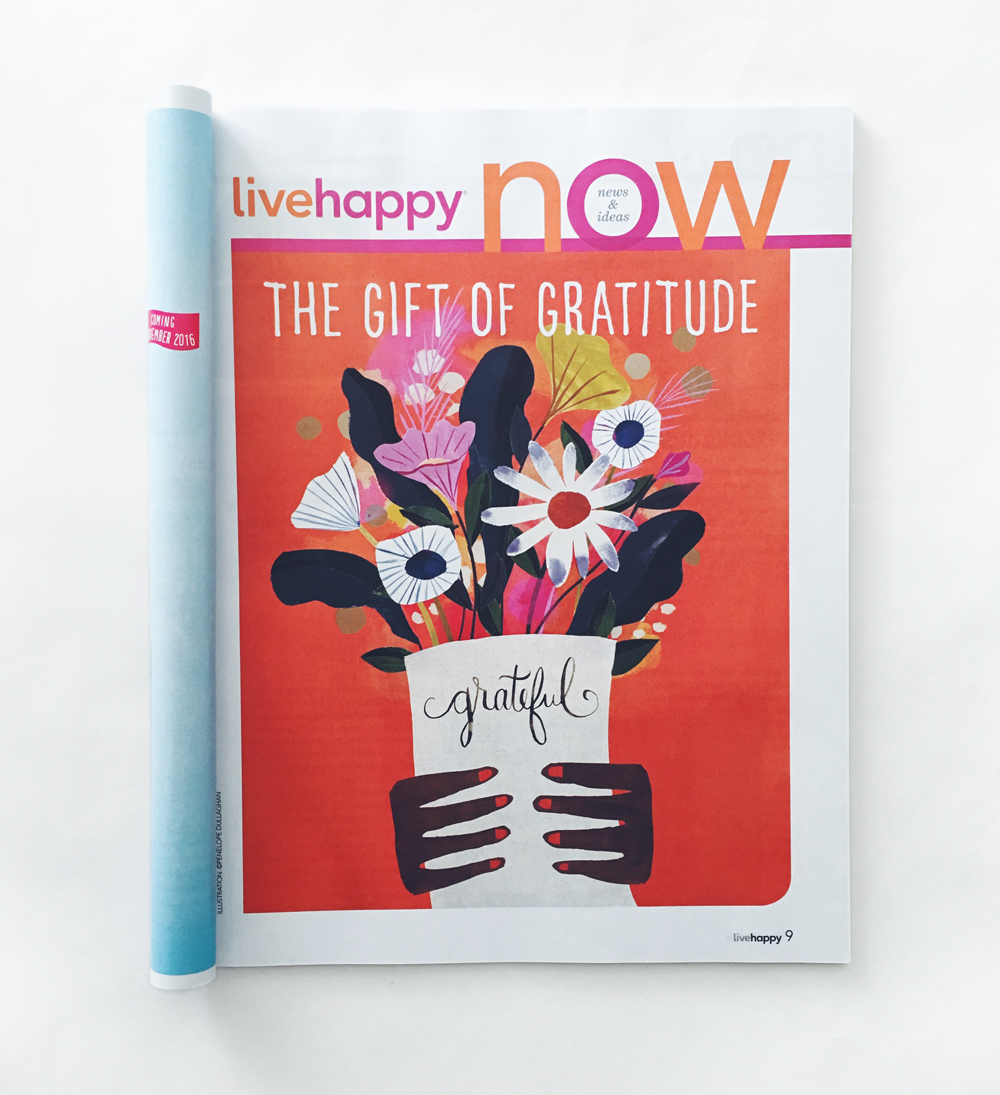 live happy magazine, illustration by penelope dullaghan