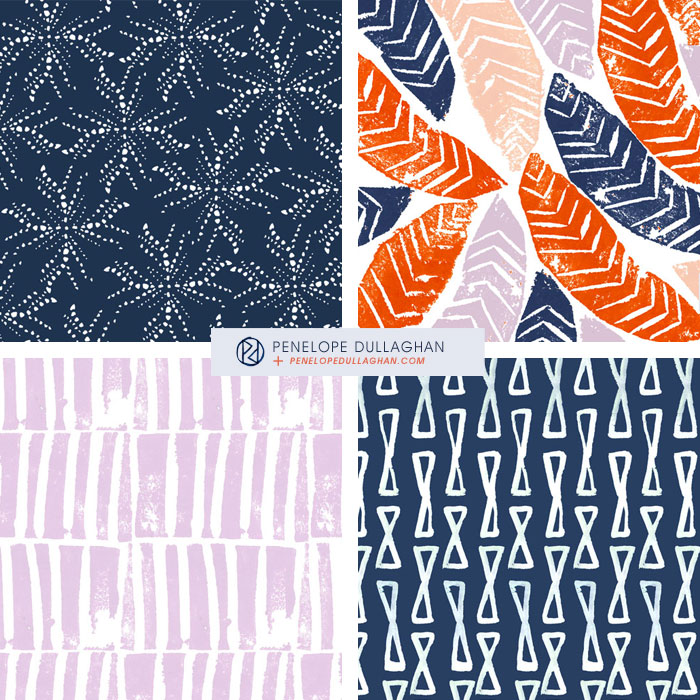 penelope dullaghan : daily patterns - series of four