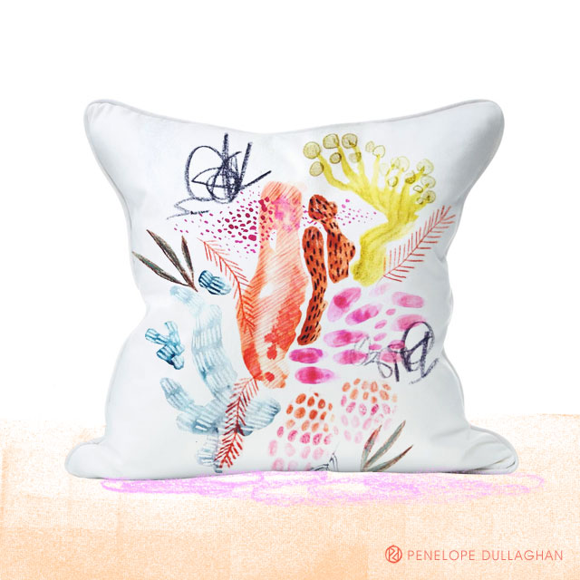 penelope dullaghan - throw pillow design