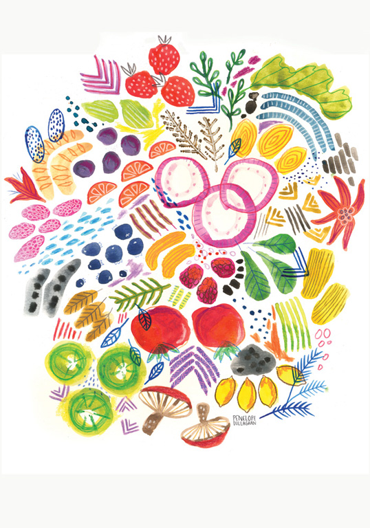 clean food healthy eating panera illustration by penelope dullaghan
