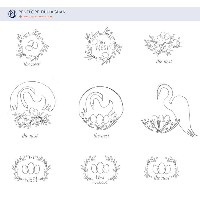 penelope dullaghan : logo - prelim work