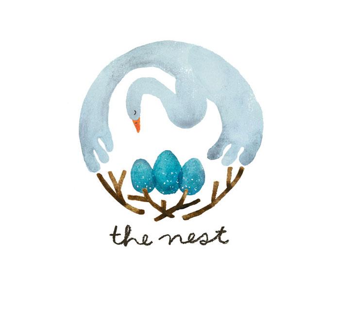 penelope dullaghan : logo design - the nest