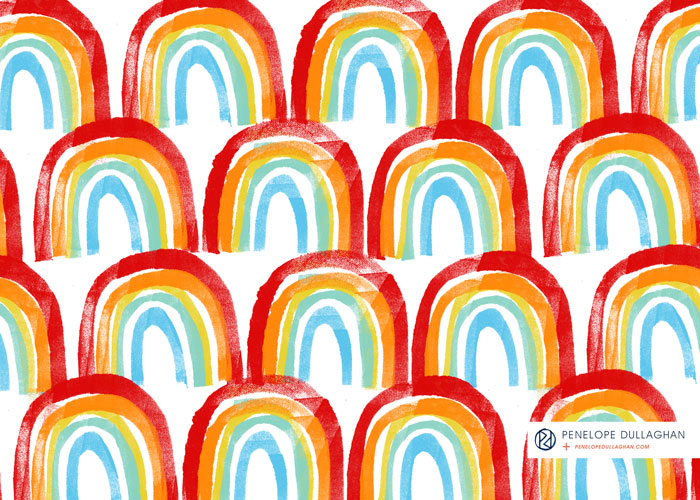 penelope dullaghan - patterns - rainbow - love wins