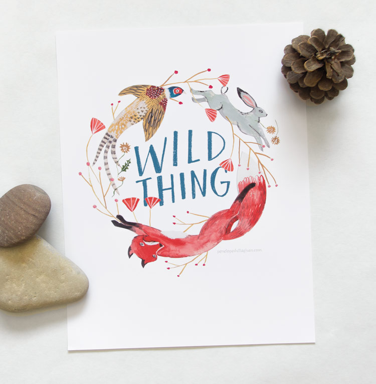 penelope dullaghan illustration prints wild thing!