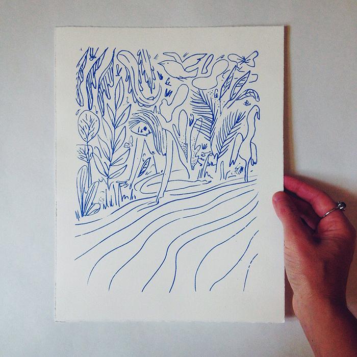 penelope dullaghan silkscreen print
