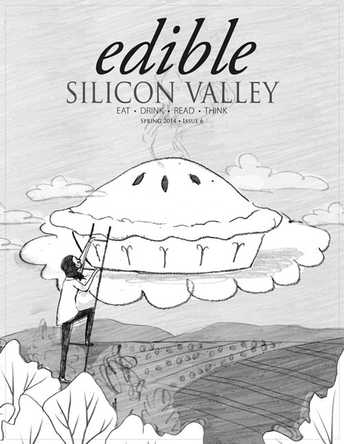 penelope dullaghan - cover illustration for edible silicon valley - sketches