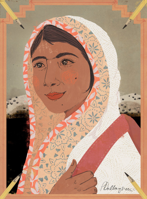 Portrait Malala Yousafzai :: Penelope Dullaghan