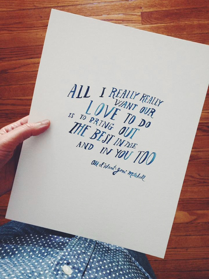 penelope dullaghan - hand lettered quote