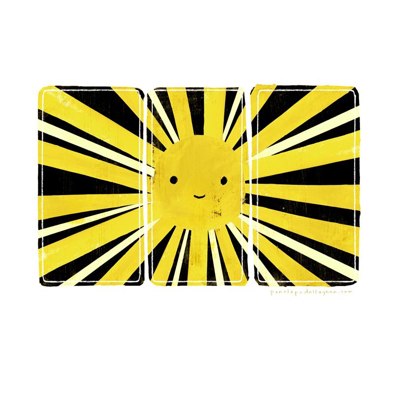 solar panel sun illustration, penelope dullaghan
