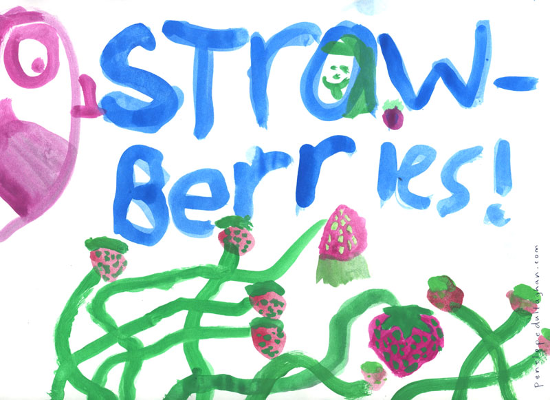 veda's strawberries painting