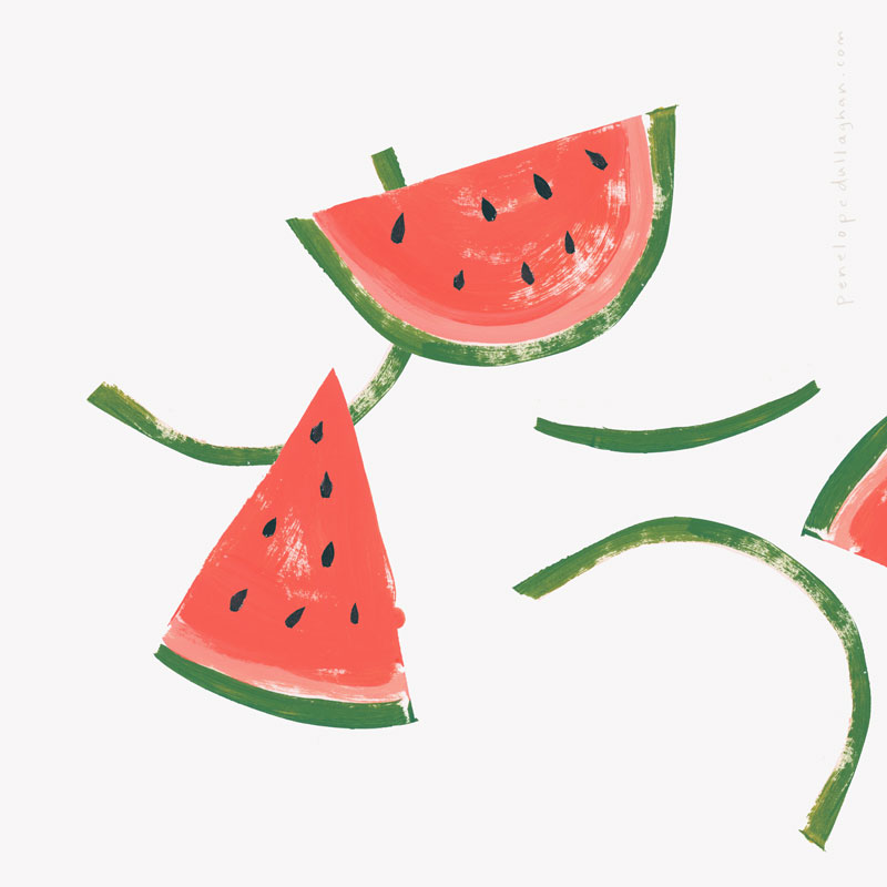 watermelons illustration, penelopedullaghan