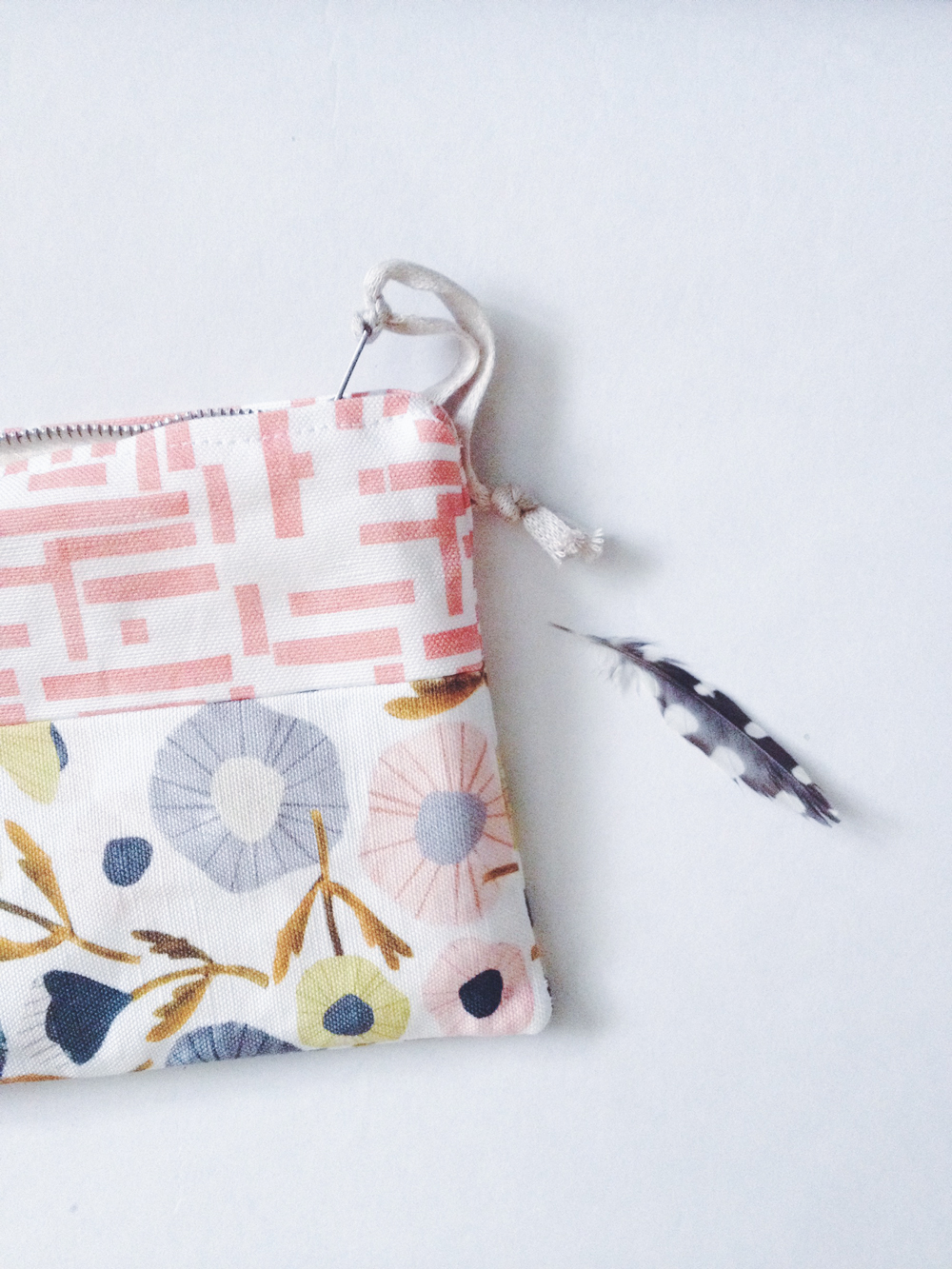 zippered pouch, fabric design illustration, penelope dullaghan