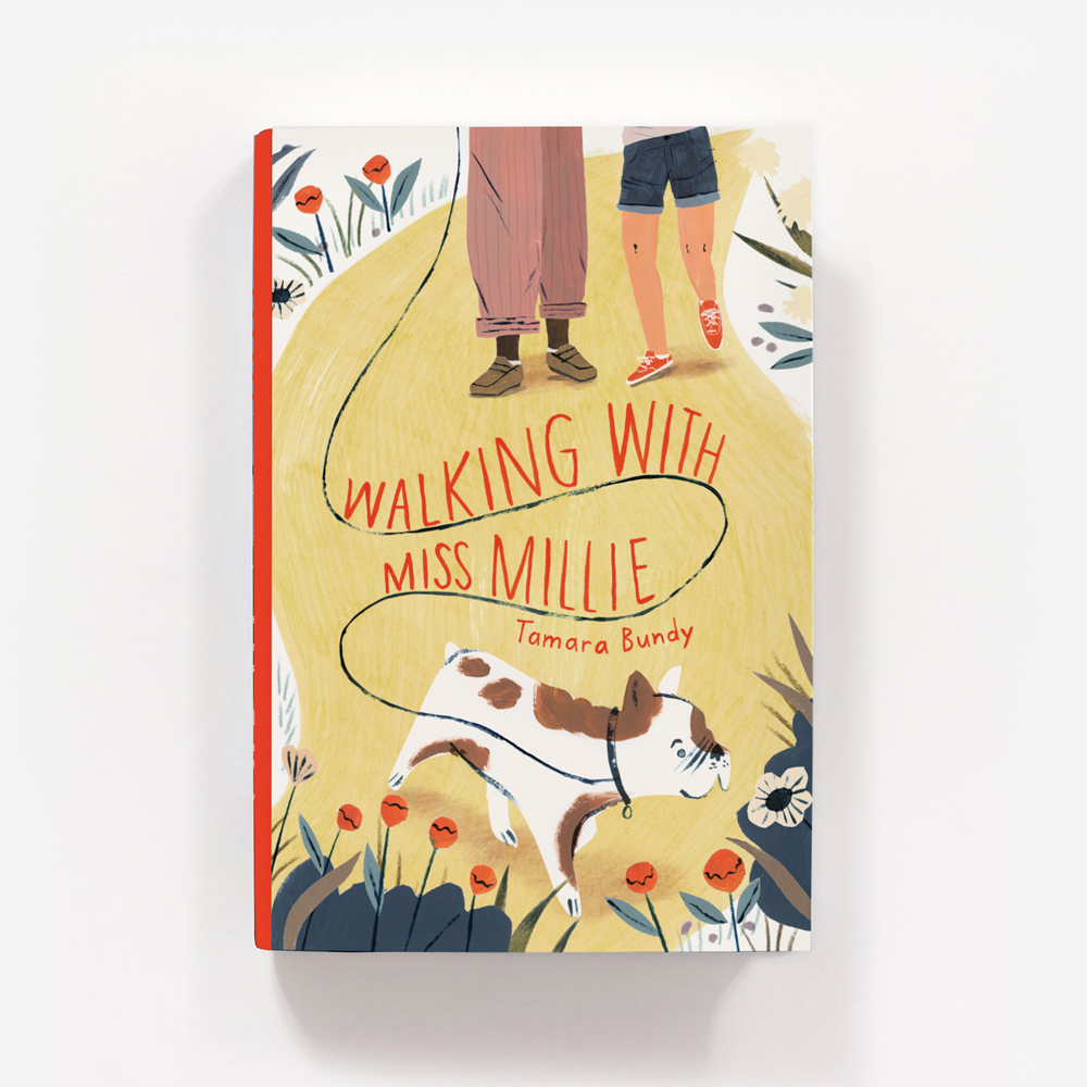 Walking with Miss Millie - book cover illustration by Penelope Dullaghan