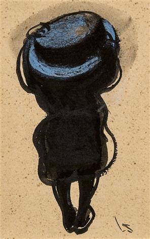 1910, Leon Spilliaert, Femme au chapeau vue de dos.jpg