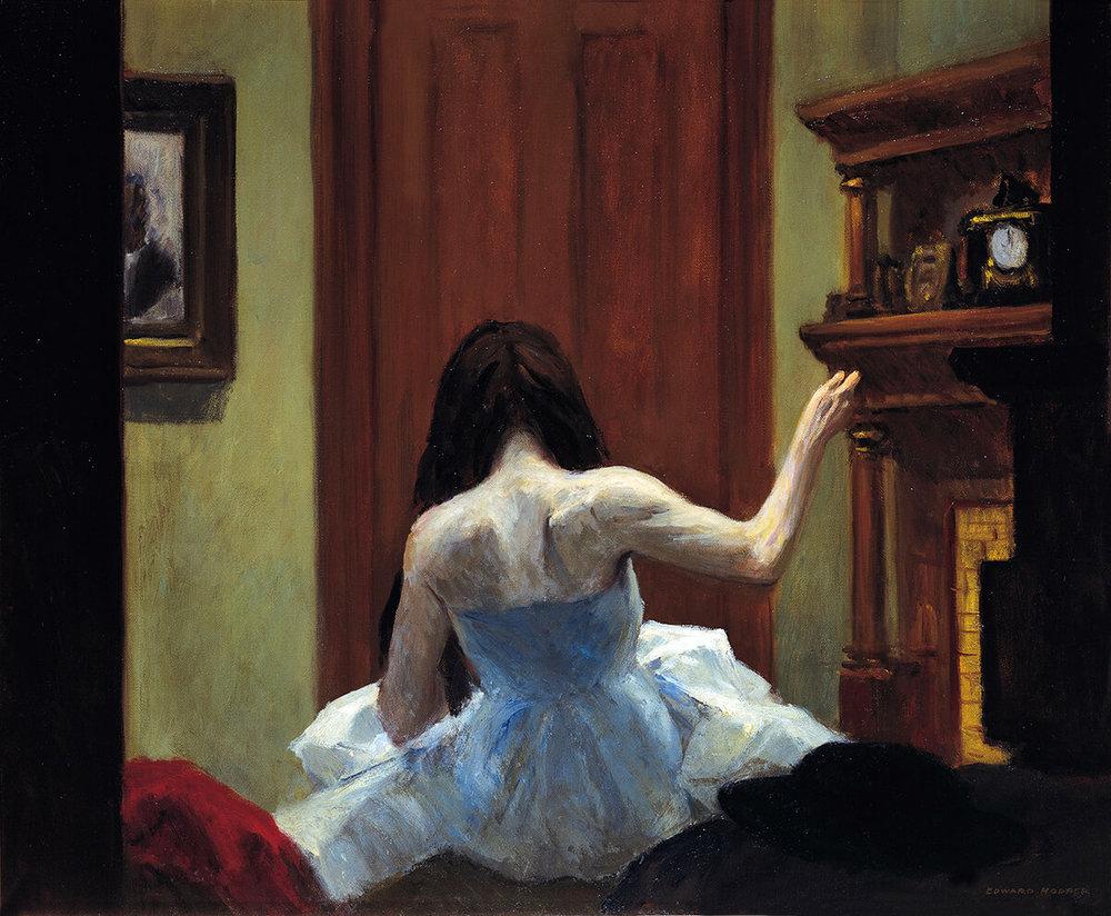 1921, Edward Hopper, Interno a NY.jpg