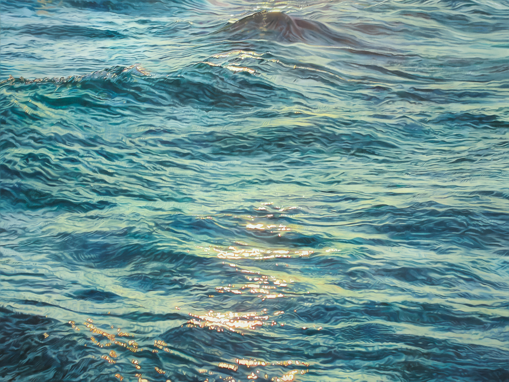 """Il mare dell'anima "" (The Sea of the Soul)  Oil on canvas, 36"" x 48""     SOLD"