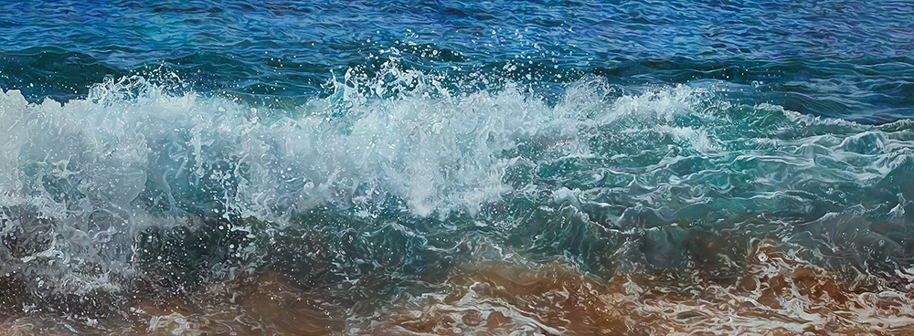 """Remembering Kāʻanapali""    Oil on canvas  25"" x 68""    *Price on request"