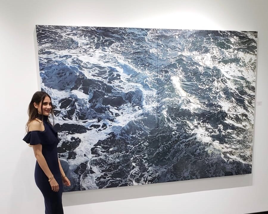 """Il soffio della vita"" ( The Breath of Life )  Oil on canvas, diptych 68"" x 102 x3"" *Available -Price on request"