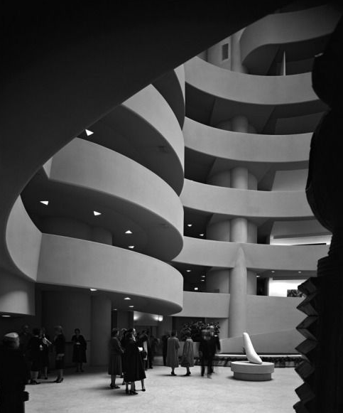 Frank Lloyd Wright's Guggenheim Museum (1959), New York City.