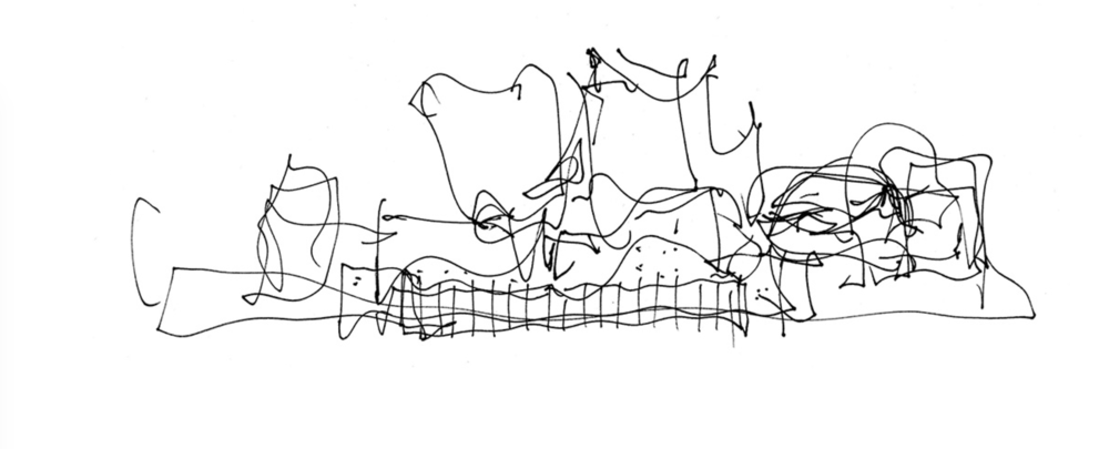 Frank Gehry's original sketch of what would become Walt Disney Concert Hall