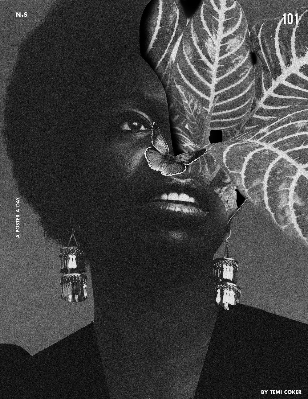 - Poster 101:Nina Simone is an amazing singer and someone I admire. I began listening to her during my designing process and from that experience I designed this picture of her for my series.  When I think of Nina Simone, I think of growth, freedom, life and I tried to convey those feeling in this image..