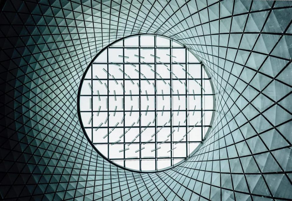 joelbear :    New York is full of incredible and inspiring architecture. The structure and lines on this sky light are beautiful.  (at Manhattan, New York)
