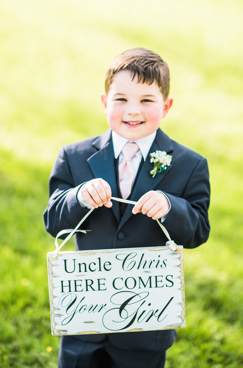 MD DC VA Wedding Planner Ring Bearer Here Comes the Bride Sign.jpg