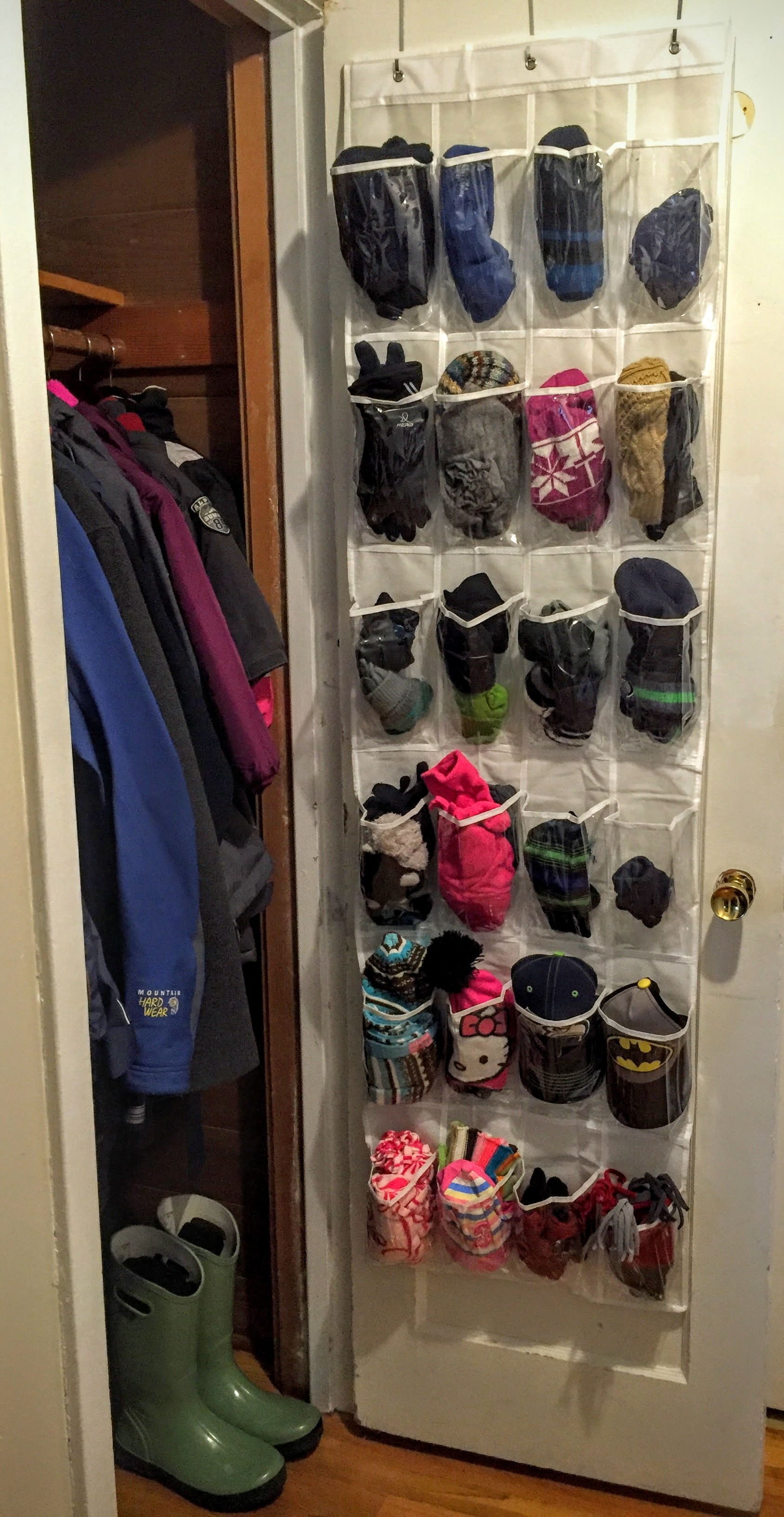 over the door closet organizer for hats gloves and scarves