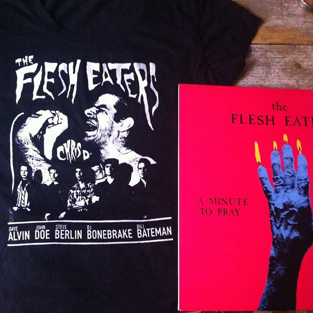 Flesh Eaters, come get your t-shirt ! Available for a limited time at http://www.featherweightstudio.com/shop/the-flesh-eaters-t-shirt 💀 #flesheaters #california #punkrock  #tshirt