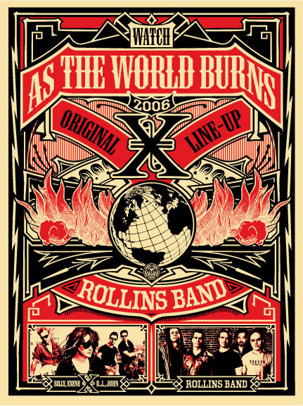 POSTER DESIGN BY  SHEPARD FAIREY