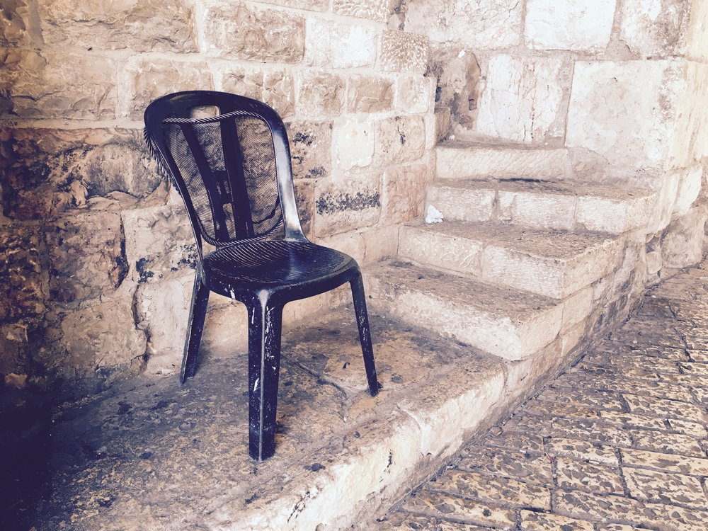 empty chair at the David's Gate