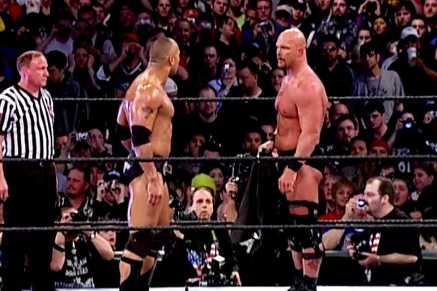 S6e10 Stone Cold Steve Austin Vs The Rock W Ryan Saucier This Is Awesome