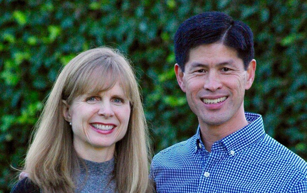 Len and Amy at the LA Arboretum