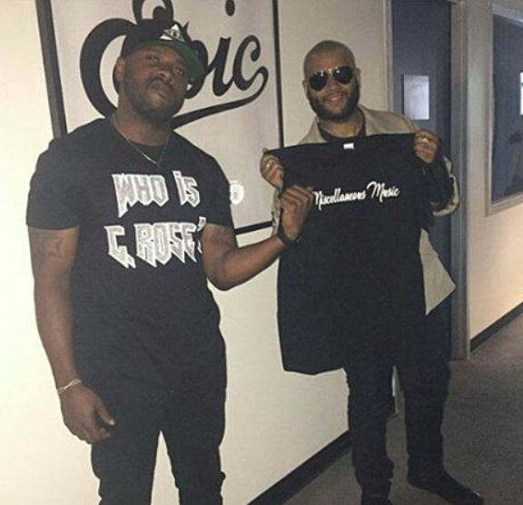 Rapper C. Rose meeting with Epic Records Executive A&R Aaron Reid