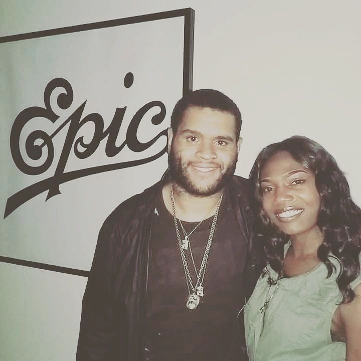 Miss Teonia meeting with Epic Records Executive A&R Aaron Reid