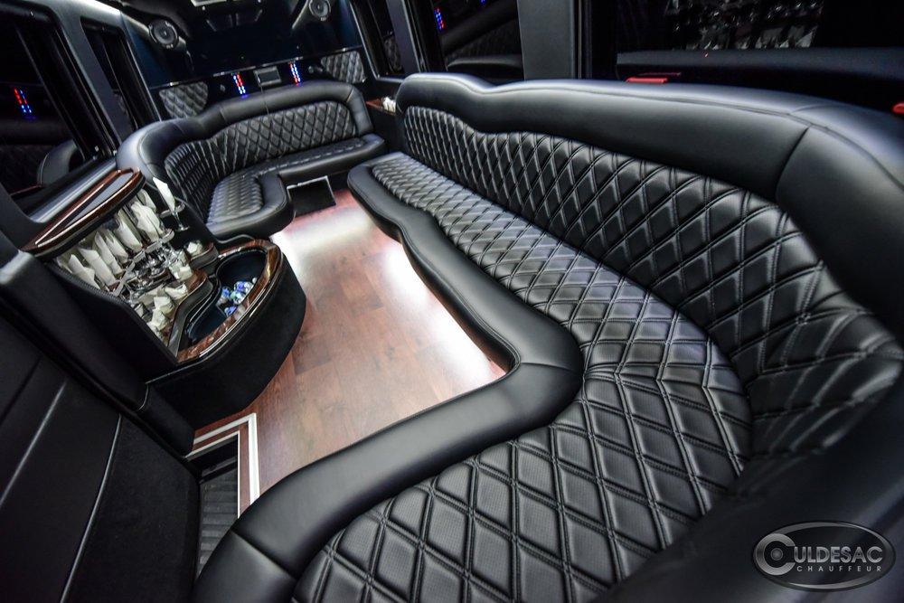 Luxurious Mercedes Sprinter Limo Interior