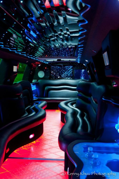 Cadillac Escalade Limo Interior light show
