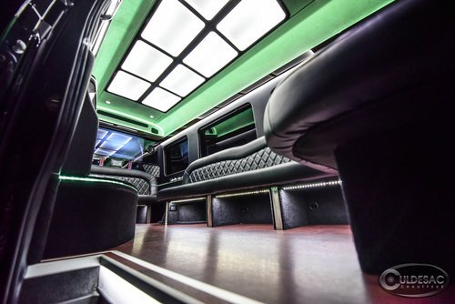 Mercedes Sprinter Limo LED light show green