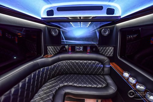 mercedes sprinter limo LED light show