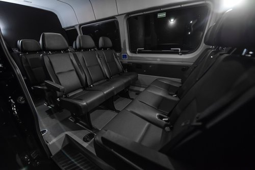 14 seat Mercedes sprinter van interior leather seats