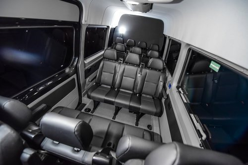 14 seat Mercedes sprinter van interior