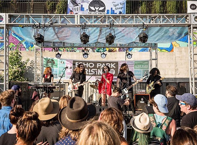See you tomorrow @ 3pm @echoparkrising!! Come find us on the @buzzbandsla stage at TAIX 📸 @jus10h
