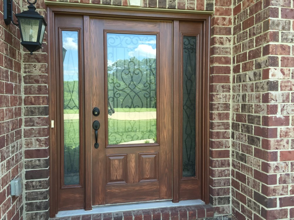 Faux stained door