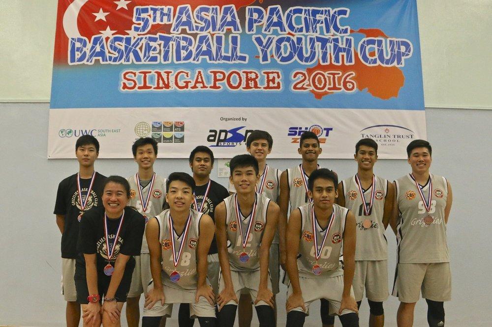 U18 Boys 4th Place - Grizzlies BC Singapore