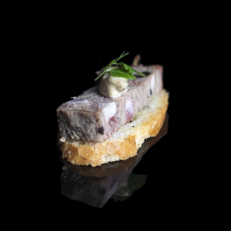 Copy of Selection of housemade Terrines on Crostini